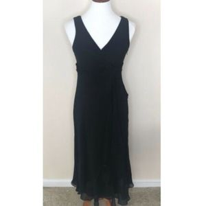 Talbots Black Dress Silk